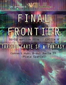 Afis Final Frontier 2016 Game Art merge la Târgul de carte SF & Fantasy
