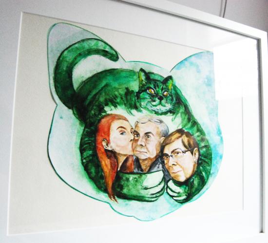 pisica-verde-detaliu