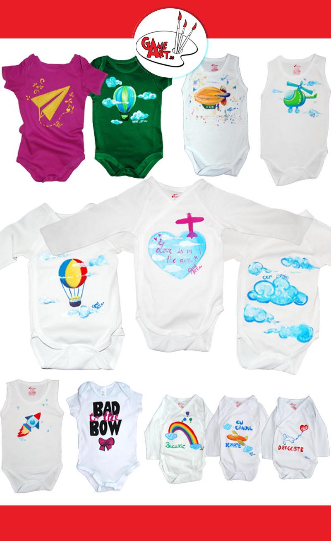 12-body-uri pentru bebelusi pictate