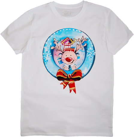 Tricou Pictat Christmas Theme Cute Reindeer