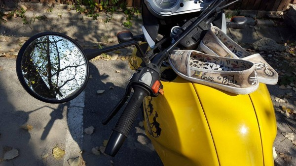 Yamaha, Espadrile Pictate, Galben, Enjoy The Ride