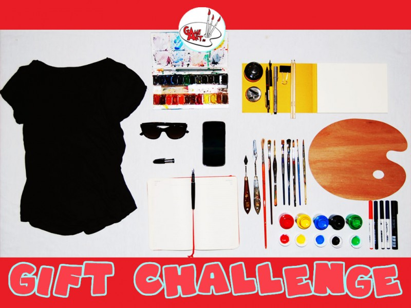 Gift Challenge Game Art